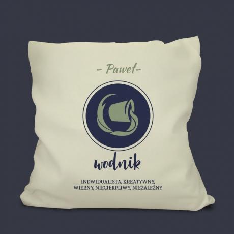 Poduszka z nadrukiem WODNIK - Znak Zodiaku