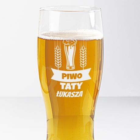 Szklanka do piwa dla taty
