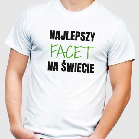 Koszulka męska z nadrukiem NAJLEPSZY NA ŚWIECIE