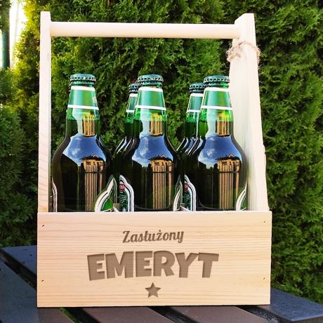 Nosidło na piwo z grawerem dla emeryta