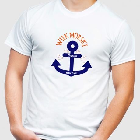 Koszulka męska personalizowana WILK MORSKI