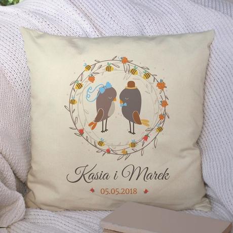 Poduszka dla Pary Młodej (Dwojga Zakochanych) personalizowana