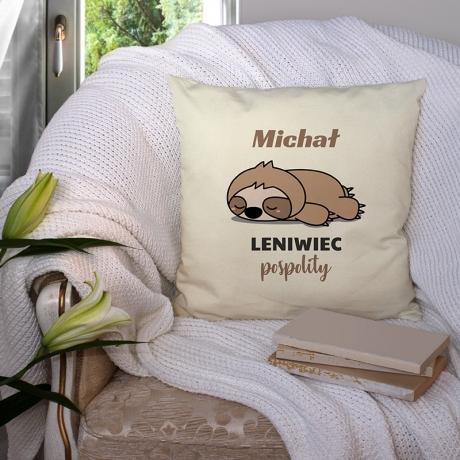 Poduszka personalizowana LENIWIEC