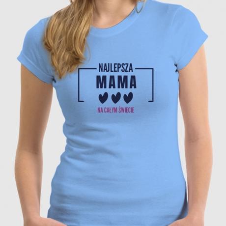 Koszulka z nadrukiem NAJLEPSZA MAMA NA ŚWIECIE