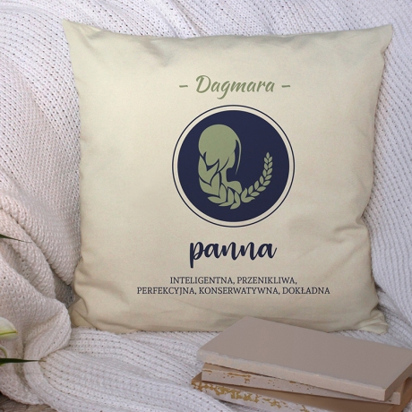 Poduszka z nadrukiem PANNA - Znak Zodiaku
