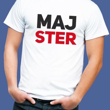 Koszulka z nadrukiem MAJSTER