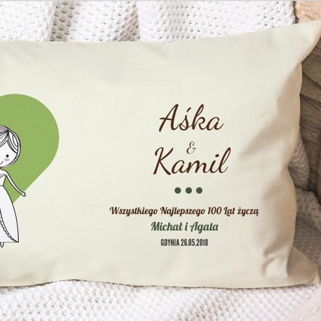 Poduszka dla nowożeńców (personalizowana)