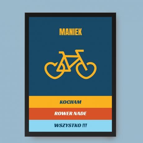 Plakat dla rowerzysty