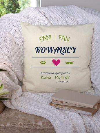 Poduszka personalizowana PANI I PAN