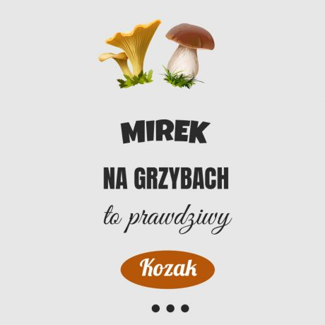 Bidon personalizowany dla grzybiarza KOZAK