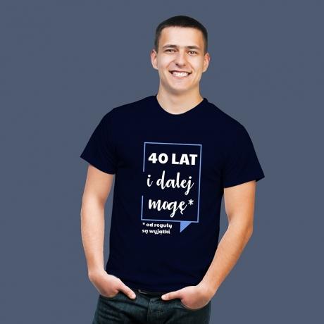 Koszulka męska na (40) urodziny
