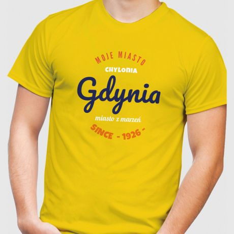 Koszulka męska personalizowana MOJE MIASTO