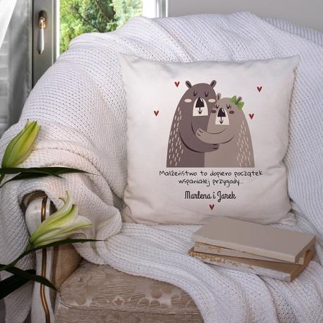 Poduszka dla małżonków MISIE