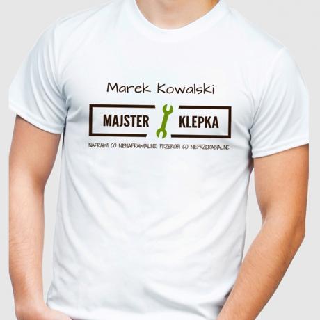 Koszulka męska personalizowana MAJSTER KLEPKA