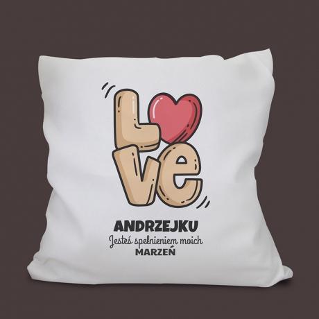 Poduszka personalizowana LOVE